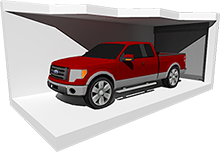 Large Enclosed Car Storage
