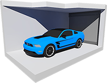 Medium Enclosed Car Storage