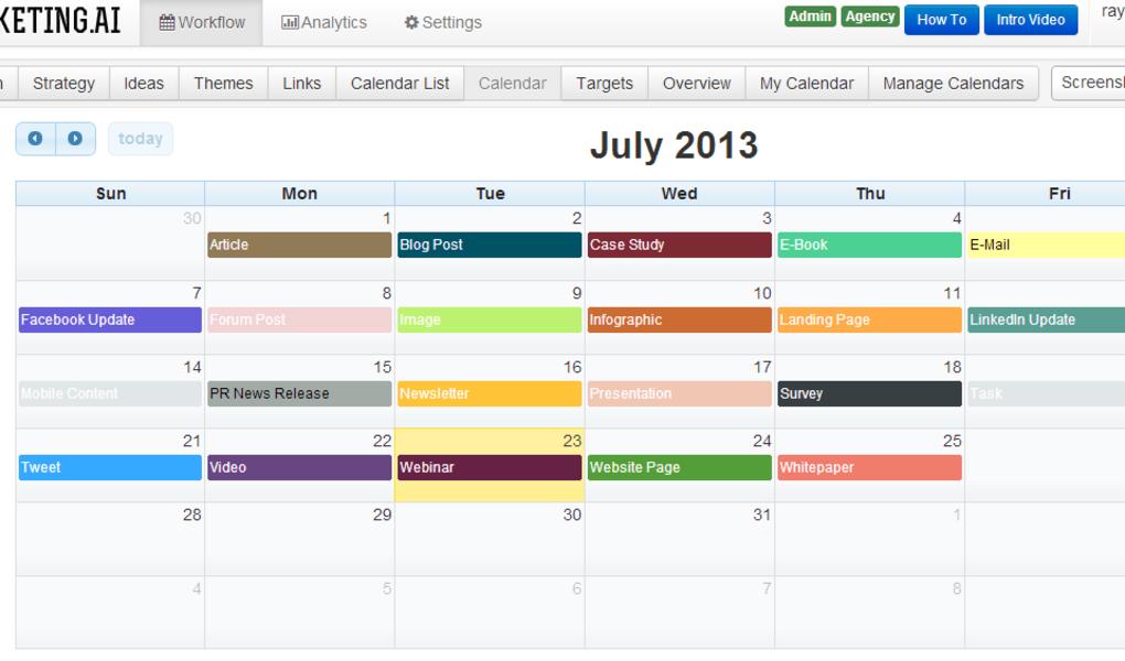 how to use a social media content calendar for self storage
