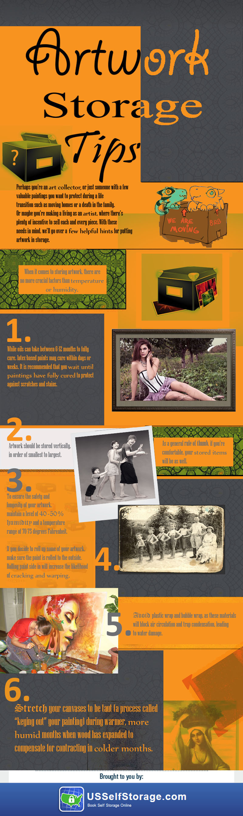 Storing Artwork Infographic