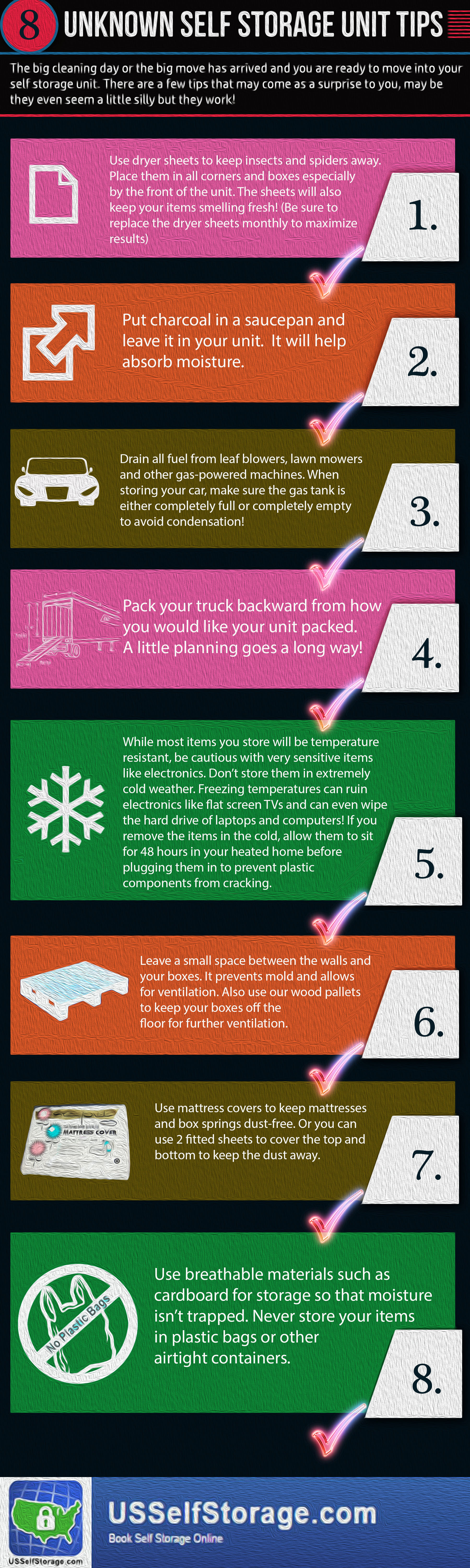 Unknown Self Storage Tips Infographic