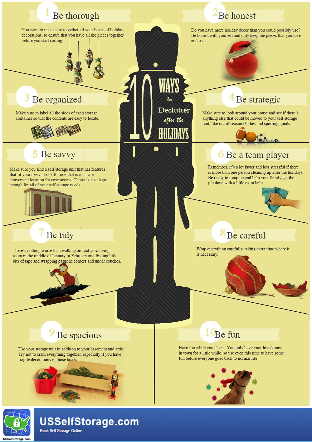 Declutter Holiday Storage Space Infographic