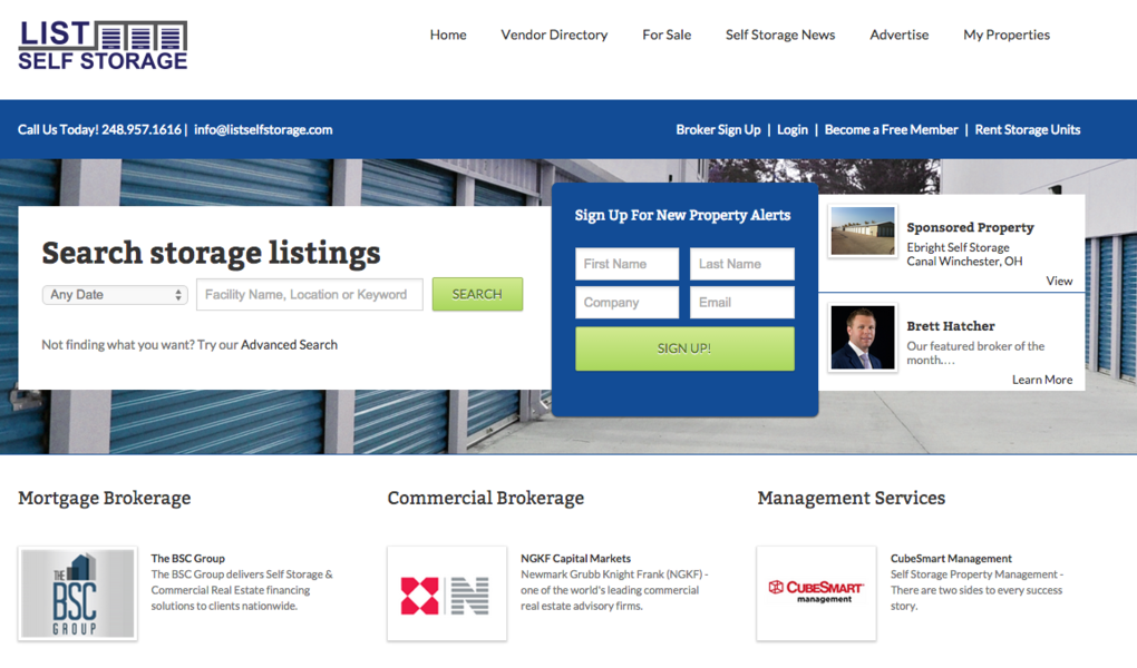 List Self Storage Launches Website for Self Storage Property Sales